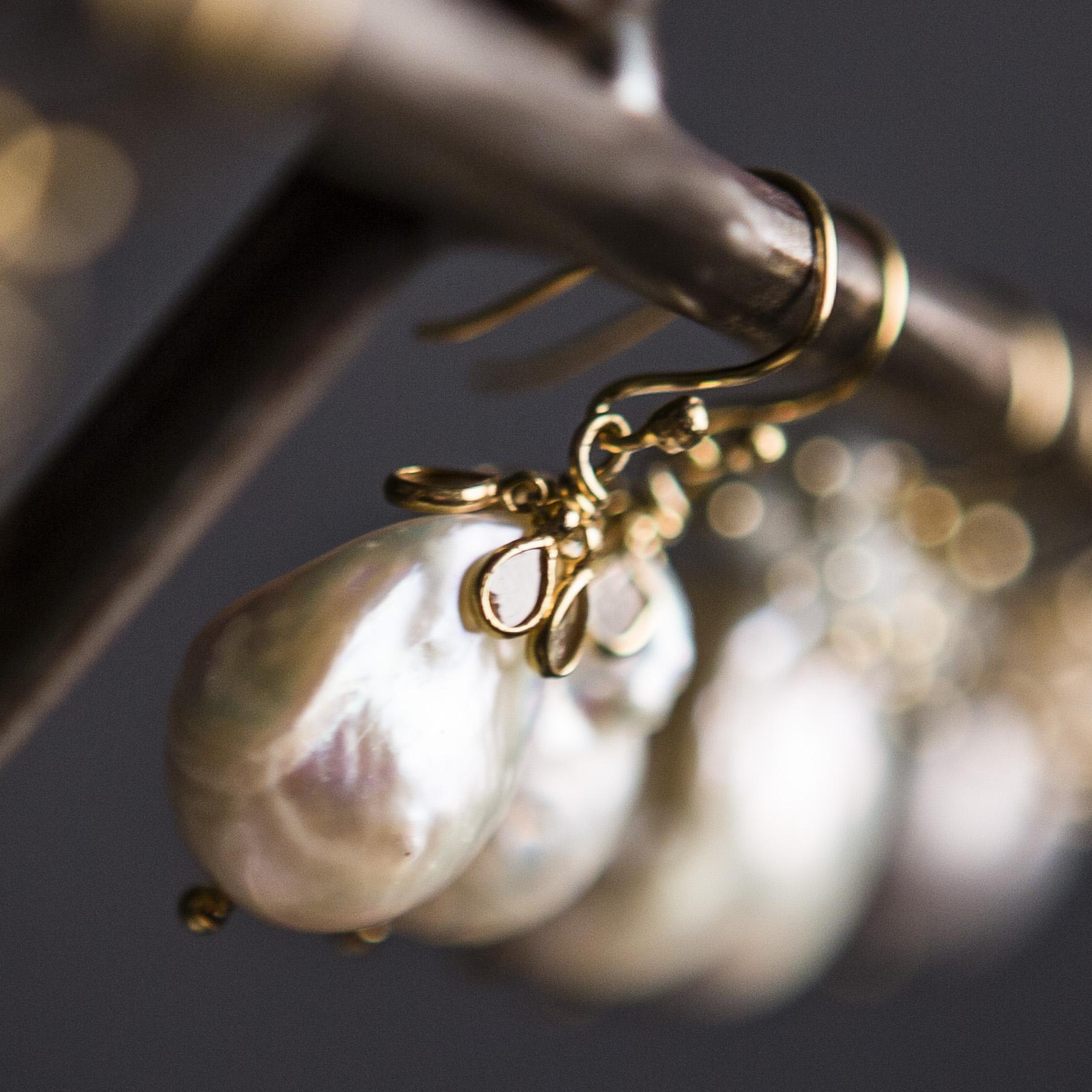mette hoj pearl diamond earrings