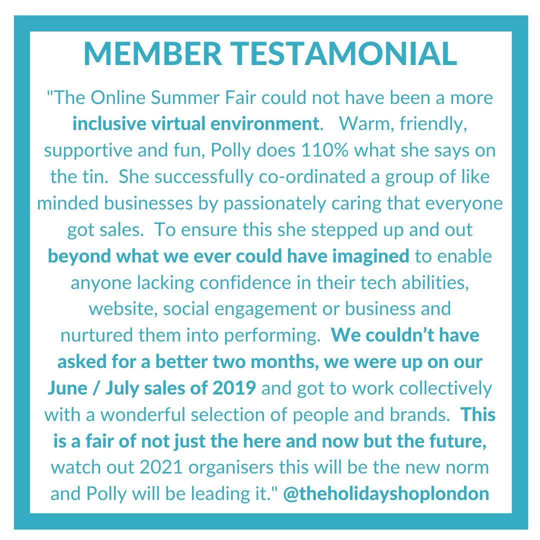member testimonials