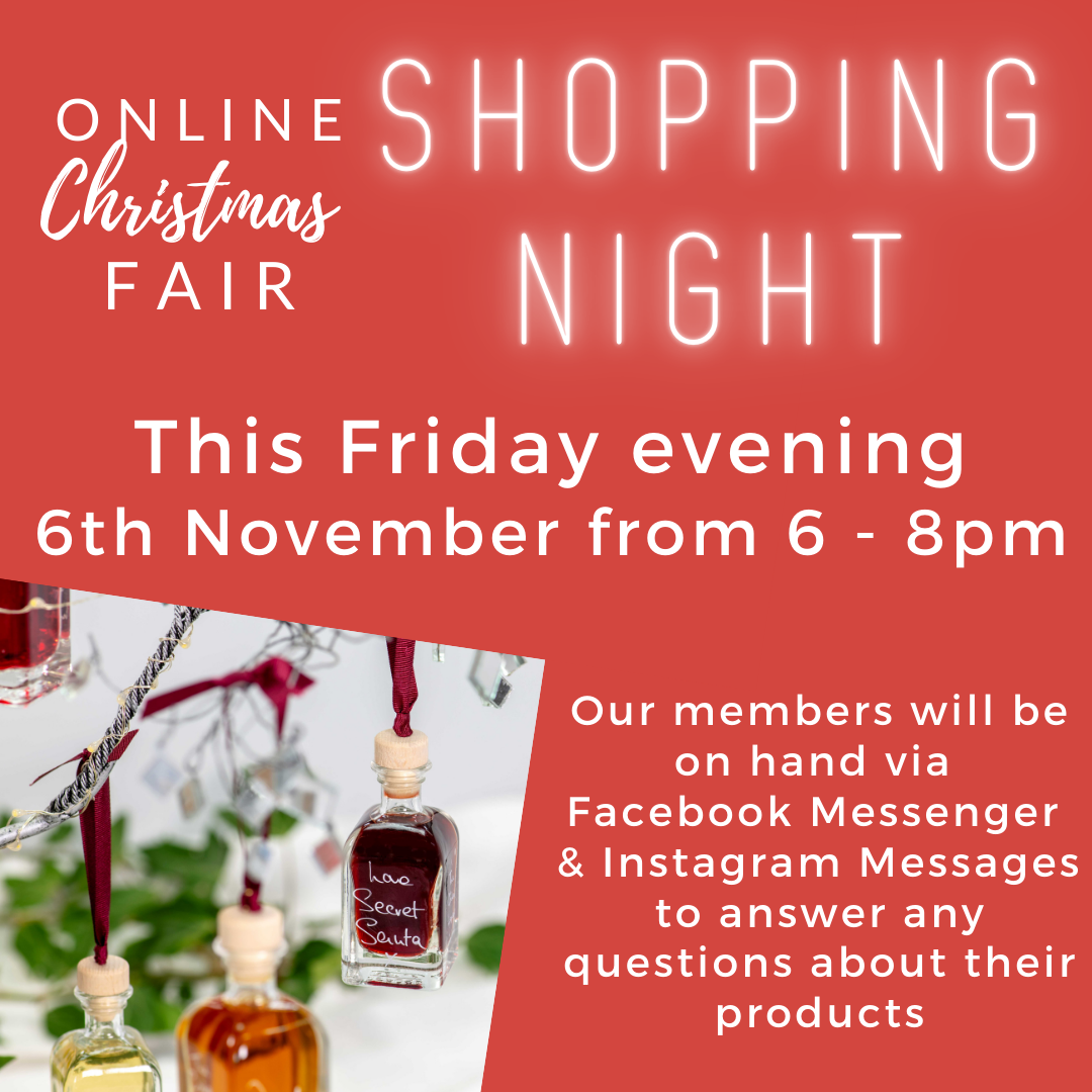 Online LIVE shopping night with the Online Christmas Fair