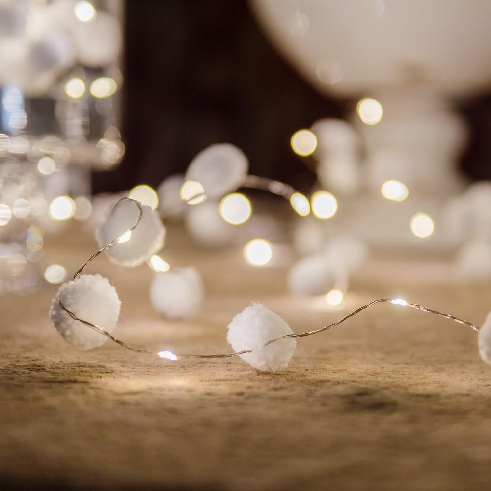 PomPom White Galaxy Fairy Lights