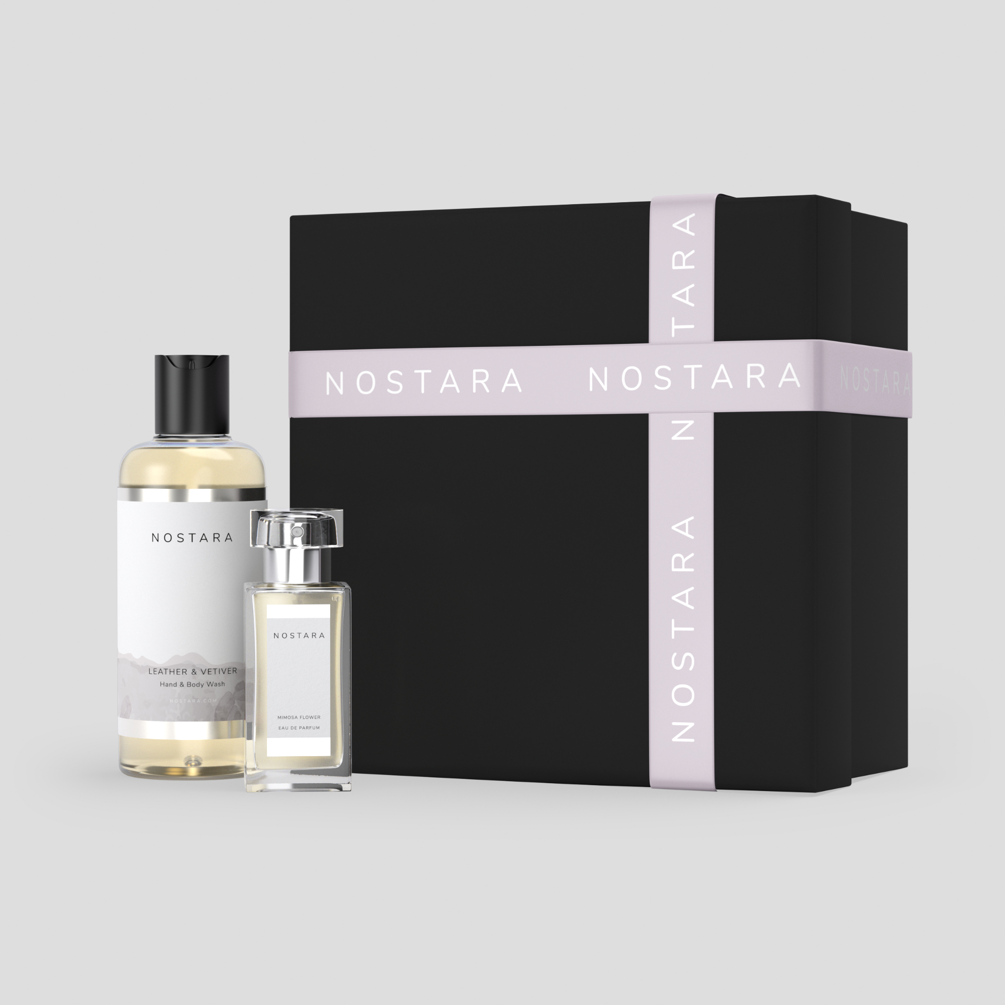 Leather & Vetiver EDT and wash set