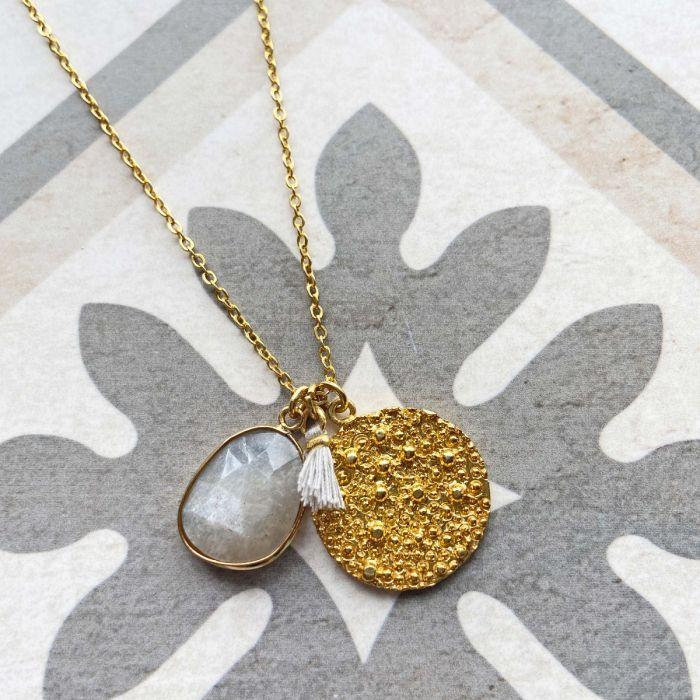 Spell coin necklace