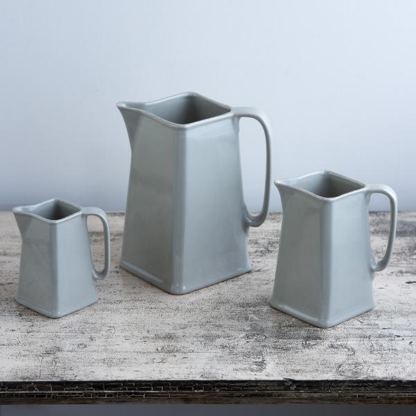 Ceramic Jug Three in a Set – Taupe