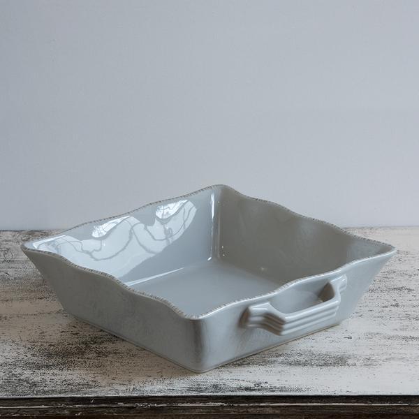 Ceramic Ovenware Dish – Large Square Taupe
