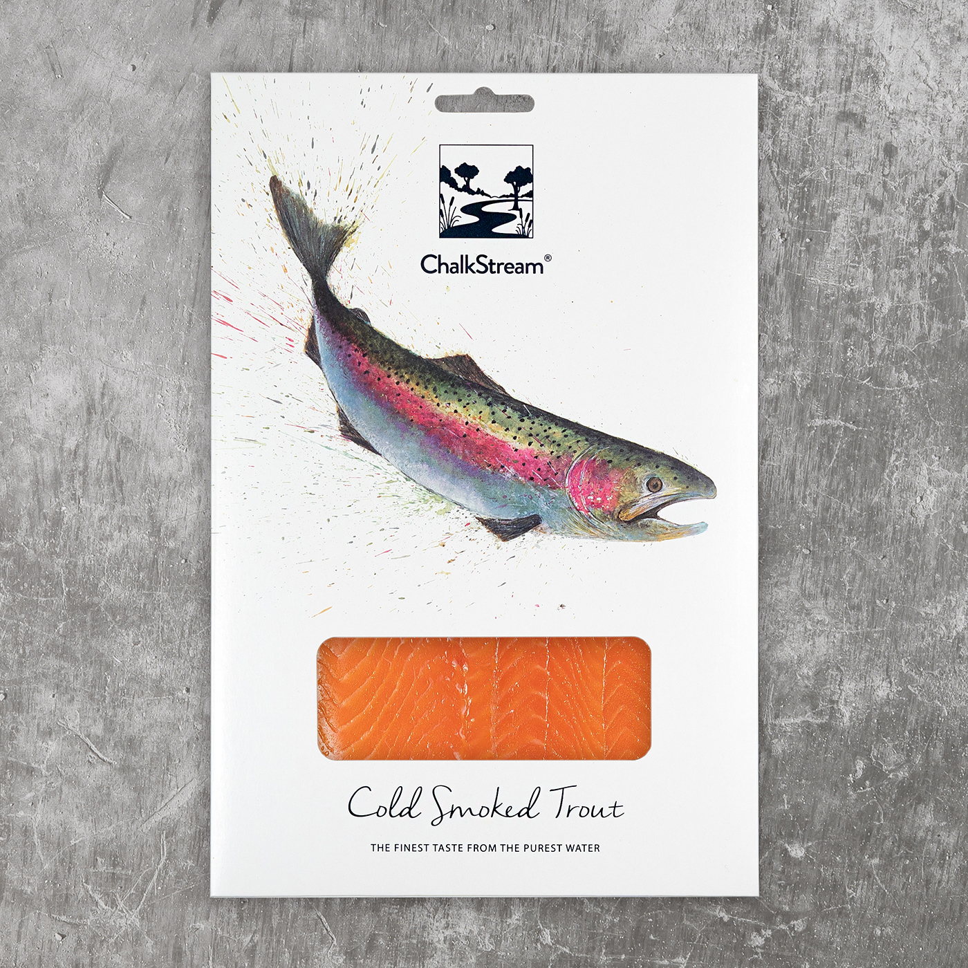 Cold Smoked ChalkStream Trout Medium pack (200g)