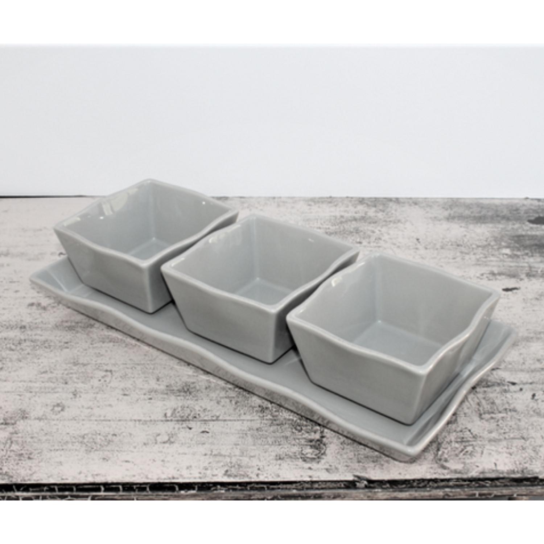Ceramic Dipping Bowl – Taupe