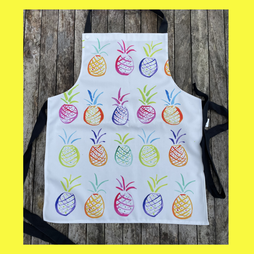Popping Pineapple Childrens apron
