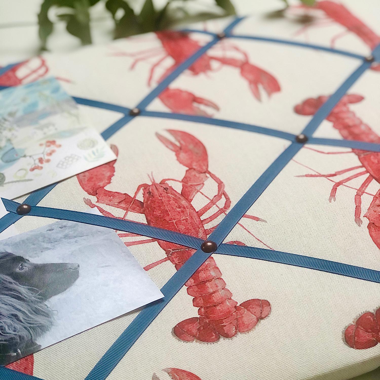 Lobster Ribbon Memo Board / French Blue Ribbon