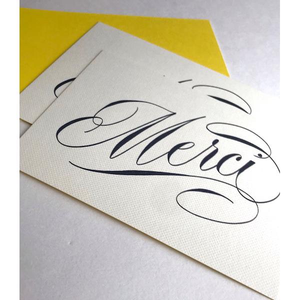 Luxury scriptMercicards