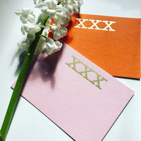 Luxury foiled kisses cards