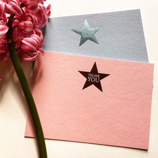 Luxury foiled stars cards
