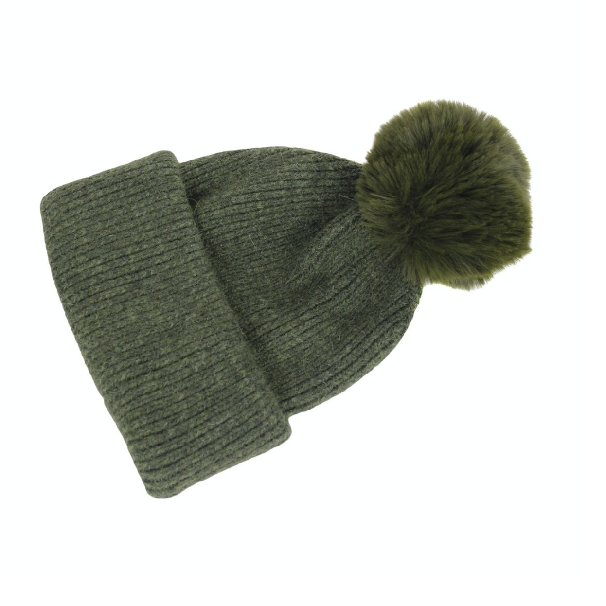 Knitted Faux PomPom Hat