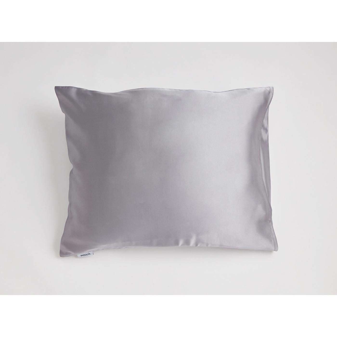 Snoooze grey silk pillowcase