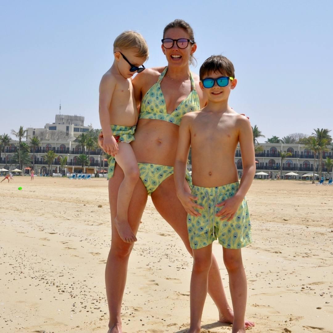 Boy's Peacock Swim Shorts