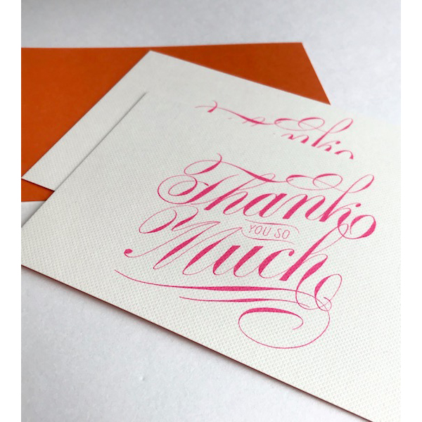 Luxury script Thank YOU SO Much cards