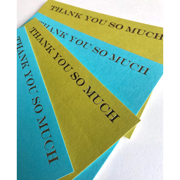 Luxury foiled THANK YOU SO MUCH cards