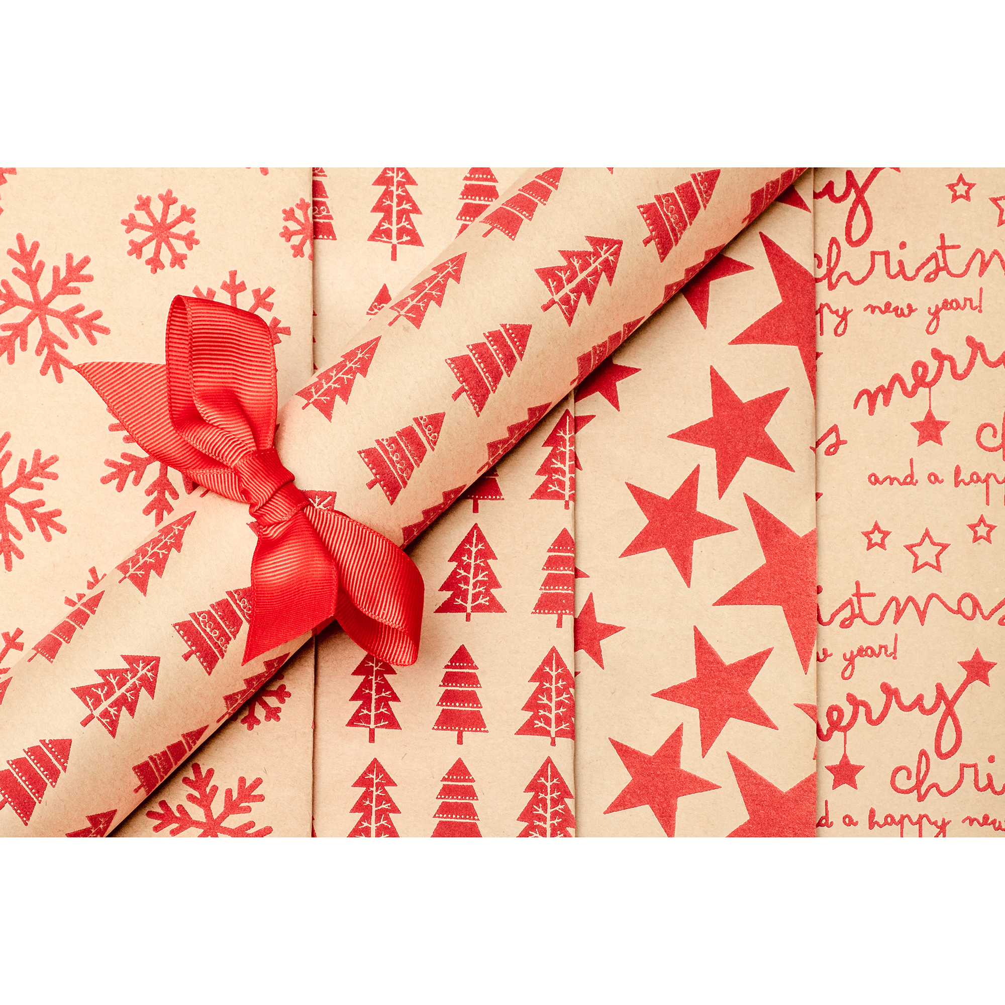 Textured Gift Wrap – 2 Roll Set