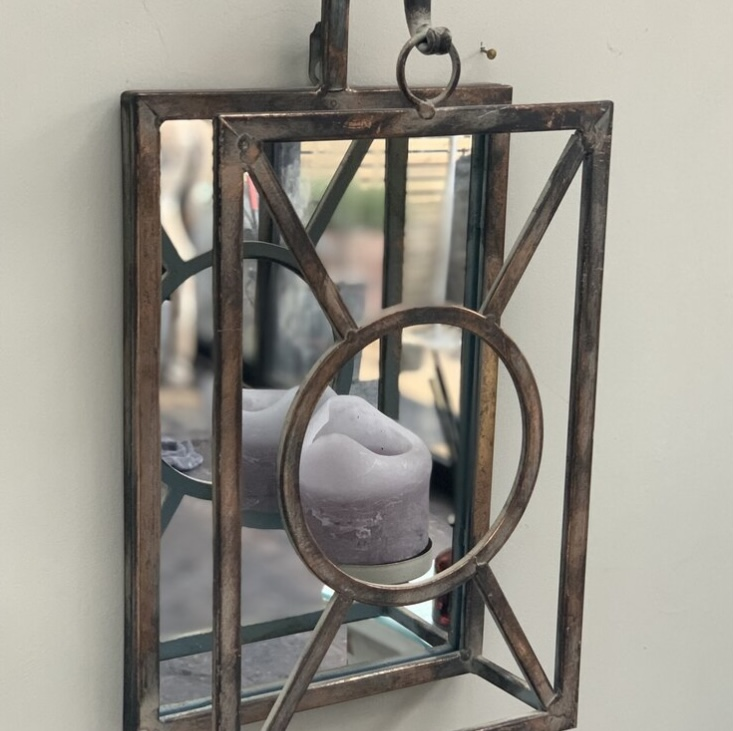 Mirrored Candle Holder Sconce