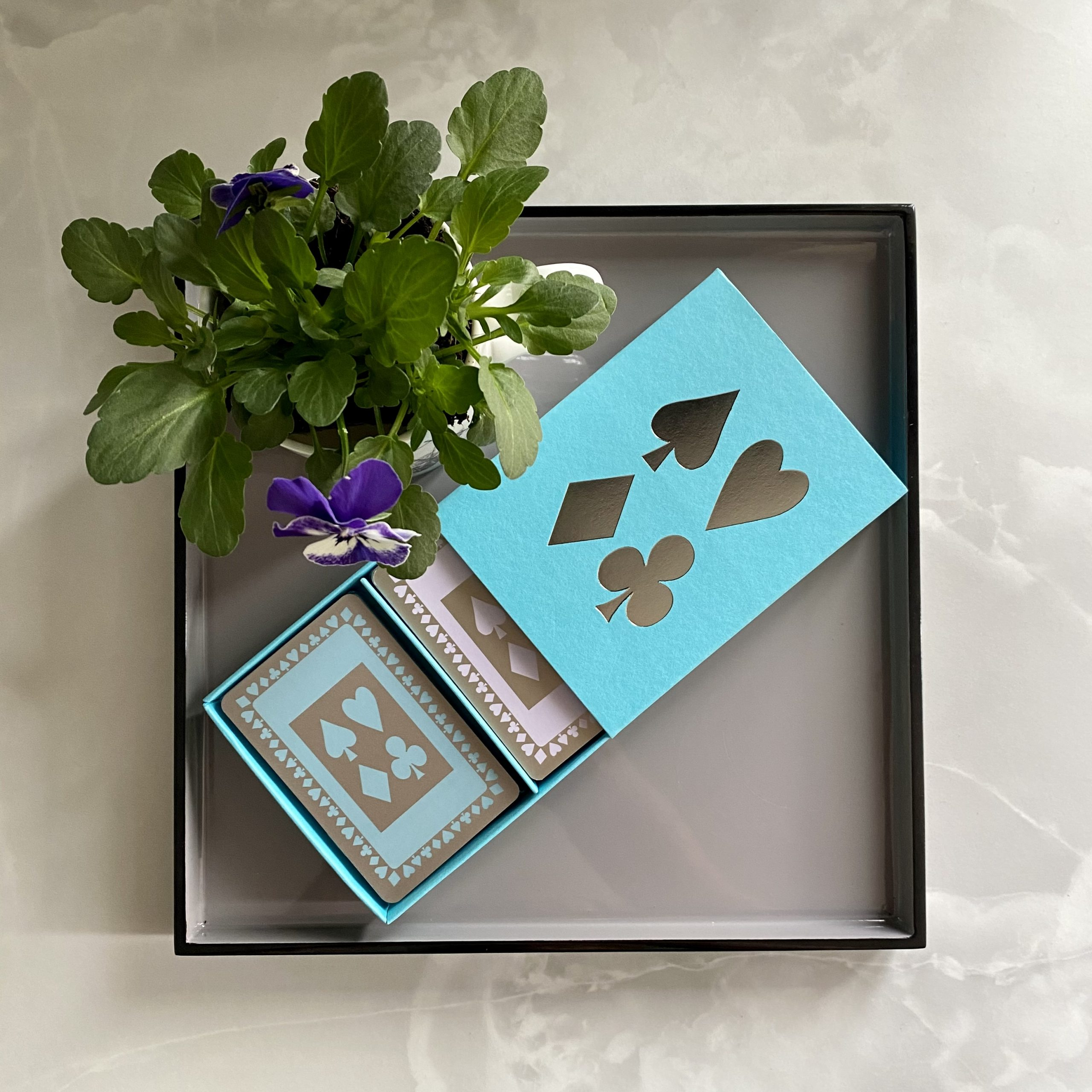 Boxed twin set of luxury playing cards