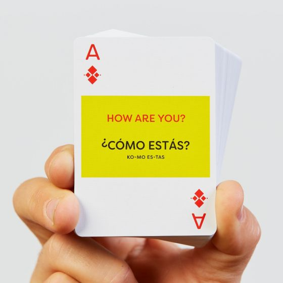 """Lingo """"Learn a Language"""" playing cards"""